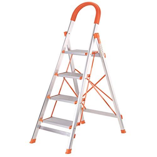 Haushalts-faltende Leiter - Starke Aluminiumleiter-Leiter-Leiter-bewegliche Treppenhaus-Inneningenieurleiter-Treppe-Schemel-Stuhl (größe : Six step ladder)