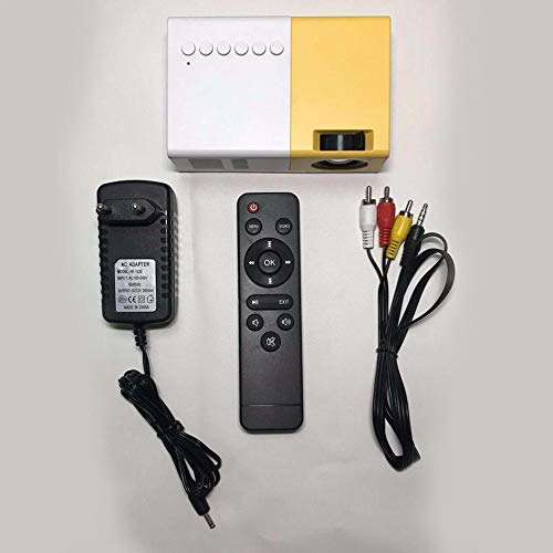 Corwar Proyector WiFi J9 Mini portátil 1080P Proyector Miniatura inalámbrico 2500 lúmenes, 16 Millones de píxeles Compatible con teléfono Inteligente, Tableta, TV Stick, Reproductor de Remarkable