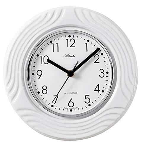 Atlanta Funk Küchenuhr Edel-Keramik Weiß - 6020