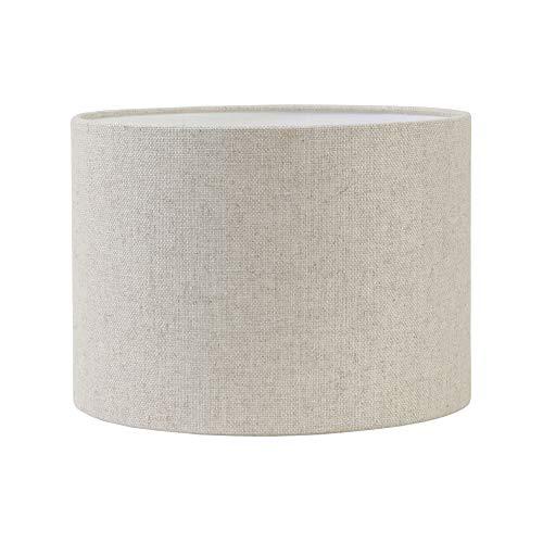 Light & Living Lampenschirm Zylinder Livigno - Natürlich/beige/weiß - Ø50 x 38 cm - Baumwolle/Leinen