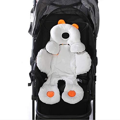 LETTON Verstellbares Kopf- und Körperstützkissen, abnehmbare 2-in-1-Babykopf-Körperstütze, weiches Kissen Baby-Stützkissen für Kinderwagen/Autositz