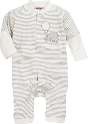 Playshoes GmbH Schnizler Baby-Unisex Schlafoverall Interlock Elefant Schlafstrampler, Beige (Natur 2), 56