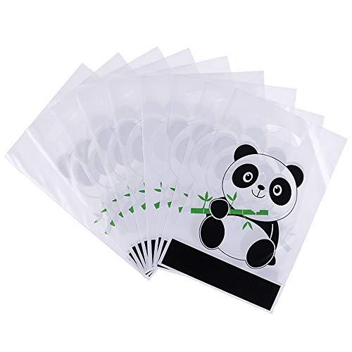Amnixo 10 Stks Geschenktassen Plastic Behandel Tassen met Leuke Panda Patroon voor Snoepjes, Feesten, Festivals