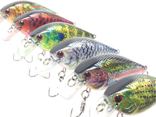 wLure Minnow Crankbait for Bass Fishing Bass Lure Jerkbait Fishing Lure (HC15KB2, with Tackle Box)