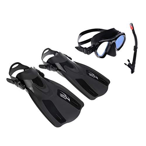 SM SunniMix Kurzflossen Erwachsene Schwimmflossen mit Schnorchel und Taucherbrille Schnorchelset - XS M