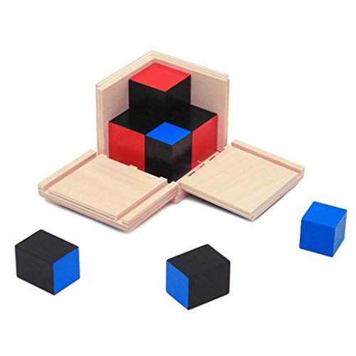 SimpleLife Kid Montessori Early Learning Math Álgebra Binomial Cube Set Juguete de Madera