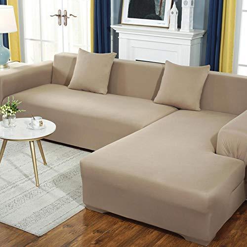 KKDIY Sofabezug für Wohnzimmerelastizität rutschfeste Schonbezug Universal Spandex-Hülle für Stretchgarnitur Sofabezug 1/2/3/4 Sitzer-6,2 Sitzplätze 145-185 cm