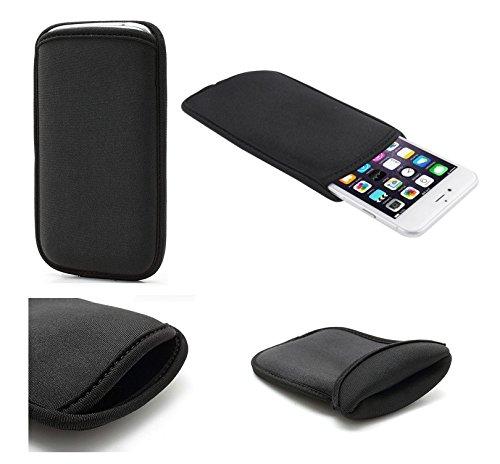 DFVmobile - Wasserabweisende Tasche aus flexiblem dehnbaren weichen Neopren hohe Qualität für jiayu g2 / g2+ Plus - Schwarz