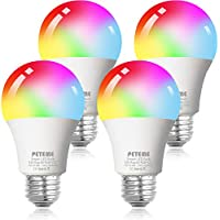 4-Pack Peteme Led RGB Color Changing Bulbs