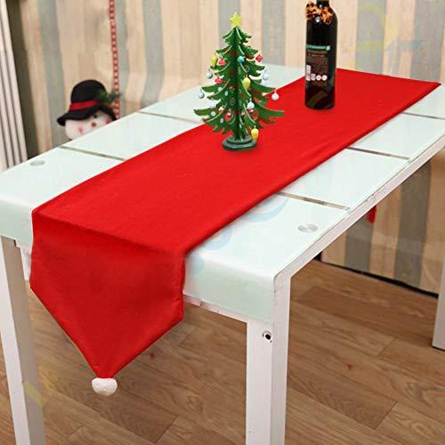 tischläufer rot 2 Seiten Baumwolle Leinen Klassische Tischwäsche Matte für Hochzeit Weihnachten Thanksgiving Tischdekoration liefern Tischläufer Tischdecke Dekoration Tischtuch Tischdecke 176*34cm