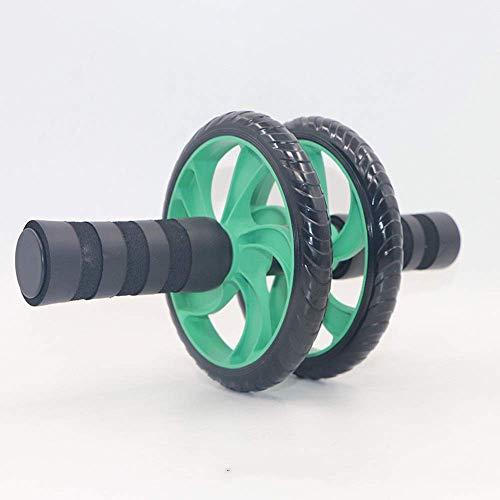 Qiutianchen Ab Bauch-Übung Roller Bauch-Übung Roller Doppelrad mit Schaum-Griffe - Inklusive Extra Dicke Knieschoner - Ab Wheel Ab Roller Bauchtrainer Fitness Workout Trainingsgeräte AB