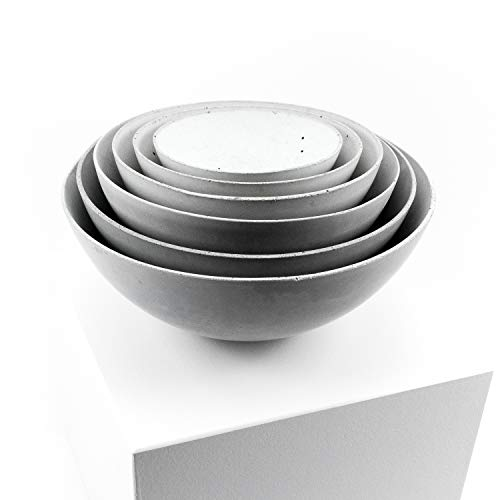 raw concrete - puristische Beton-Schalen (ca. 11,5 cm - 19,0 cm Durchmesser)