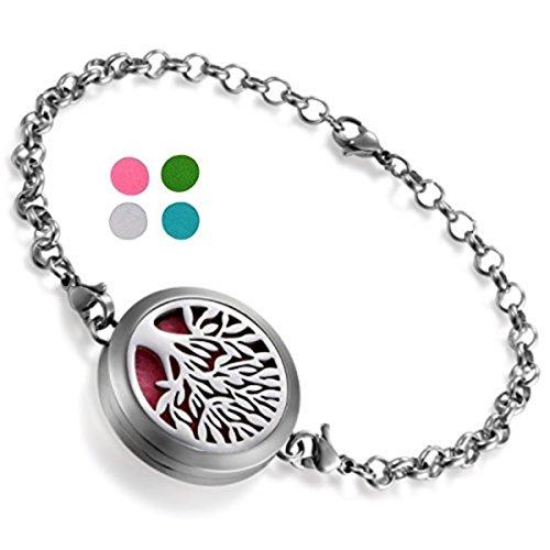 Bracelet Diffuseur de Parfum ou d'Huiles essentielles aux 4 couleurs. Fermoir magnétique.BE02