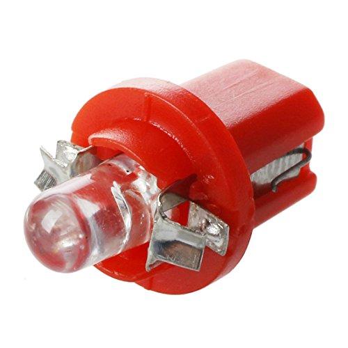 SODIAL 10 x Bombilla de salpicadero contador LED B8-5D T5 con el soporte de Rojo coche Tuning Auto Luz