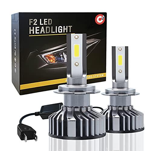 Coppia di Lampadine H7 LED 10000LM, Kit Lampada Sostituzione per Alogena Lampade e Xenon Luci, Fari Abbaglianti e Anabbaglianti per Auto, 12V 6000K Bianco - DEVCOline - AR FL 00H7