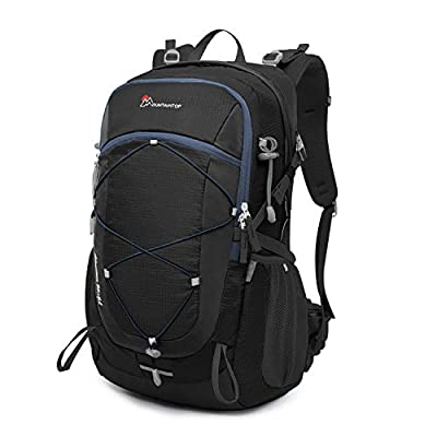 Mountaintop 22L/28L/40L Unisex Hiking/Camping Backpack (40L-Black+Blue)
