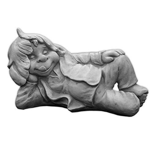 gartendekoparadies.de Lustiger Gnom,ich Liege Hier und schlafe'' aus Steinguss, frostfest