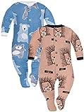 Sibinulo Nino Nina Pijama Bebé Pelele de ABS Pack de 2 Erizos Osos de Peluche...