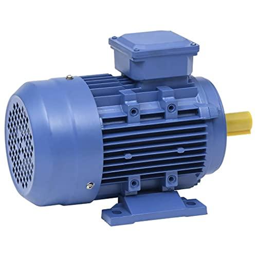 vidaXL Elektromotor 3-Phasen Asynchronmotor Drehstrommotor Motor E-Motor für Kompressor Hebezeug Winde Lüfter 2,2kW/3PS Aluminium 2-Polig 2840U/min