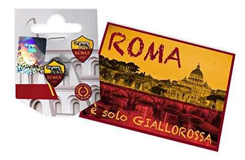 tex family Anstecknadel aus Metall AS Rom und Postkarte Rom.