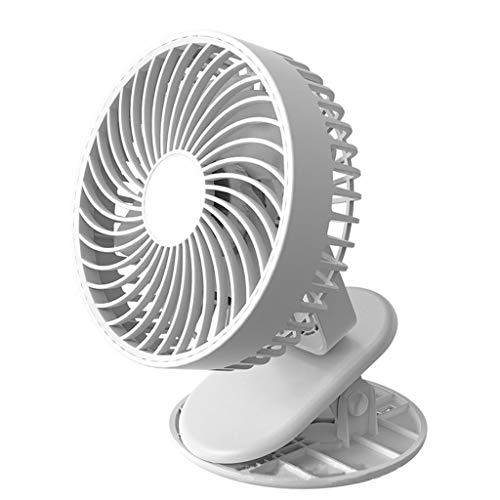 MAGELIYA Clip en Ventilador para Cochecito portátil con rotación de 360 Grados pequeño Ventilador de Escritorio Recargable