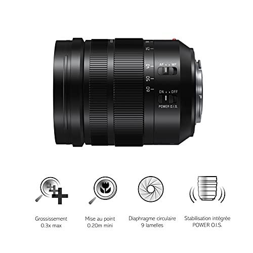 Panasonic H-ES12060E Leica DG Vario-Elmarit Kamera Objektive (12-60mm/F2.8-4.0, Standardzoom, schwarz) & LUMIX DMW-BLF19E Li-Ion Akku (geeignet für LUMIX GH4 und LUMIX GH3) schwarz