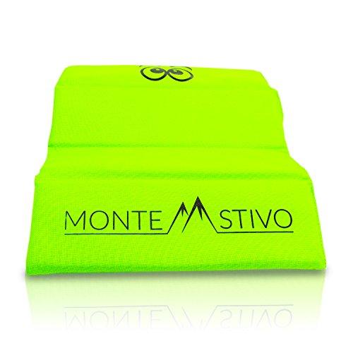 Monte Stivo® Expedition | Outdoor-Sitzmatte 30x40 cm Sitzfläche für Kinder und Erwachsene – 4-Fach faltbar | Zum Wandern
