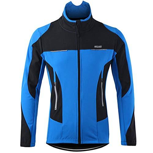 Yu$iOne Fahrradbekleidung MäNner, Herbst Und Winter Windsicher Temperatur Beibehalten Lange ÄRmel Mantel FüR Mann Ma'Am Jacket FüR Radfahrer,Blue,XL