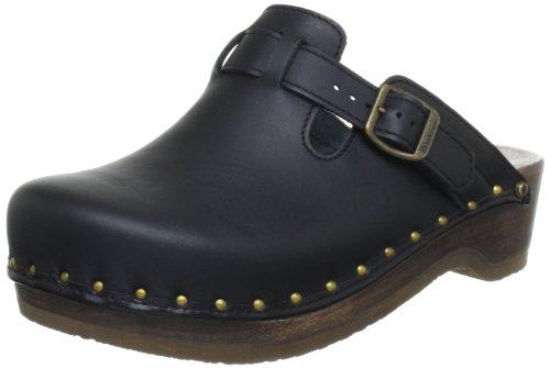Berkemann Unisex-Erwachsene Riemen-Toeffler Clogs, Schwarz (schwarz 900), 47 EU