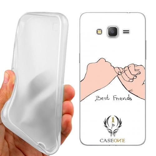 CASEONE Custodia Cover Case Best Friends per Samsung Galaxy Grand Prime G530H