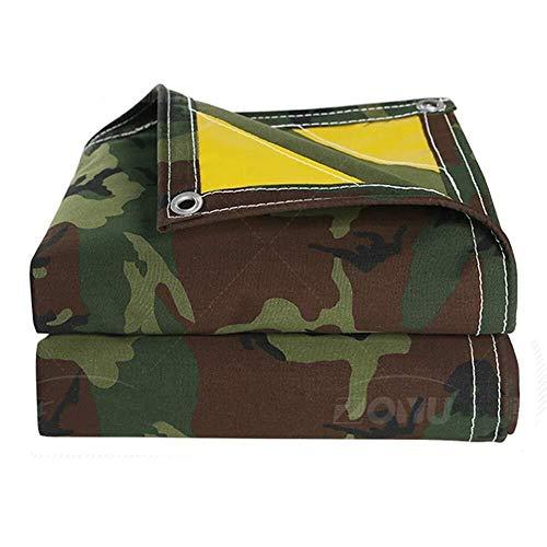 WDOPZMS Camouflage Tarpaulin Heavy Duty Waterdichte Tarps,Geschikt voor het Tuinen Vissen Hangmat Regen Fly Tent Tarp Voetafdruk Shelter Gronddoek