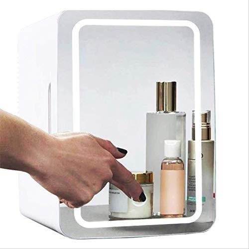 LAILUS Mini Frigo per Trucco Specchio per Il Trucco, Frigorifero per Cosmetici da 8 Litri E Congelatore più Caldo per Prodotti per La Cura della Pelle di Bellezza Profumata