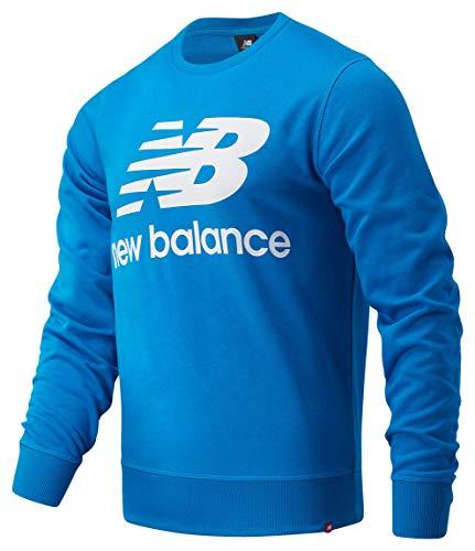 New Balance Essentials Stacked Logo Sweater Light Blue (l)