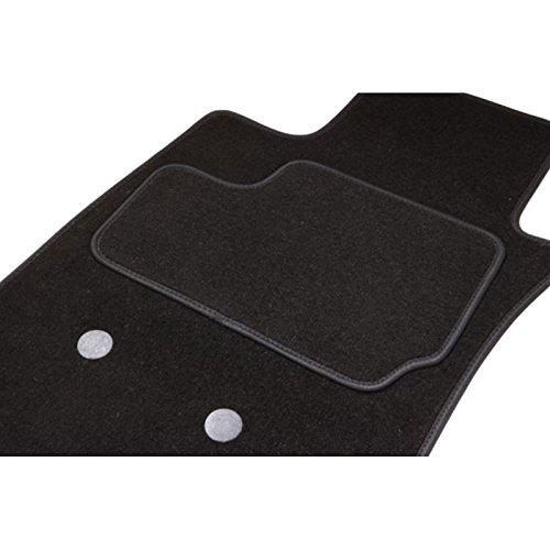 Fußmatten-Set, ETILE für 407 SW (von 04.04-05.11) – 1 Kofferraumwanne – schwarz – Teppich Tuft, l samtig Optik – 550g/m2+ss Schicht 1950g/m2 + Textil-Ganse