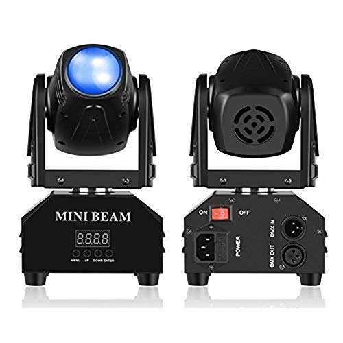Mini Moving Head Stage Light RGBW (4 in 1) DMX512 Beam Spot LED Lighting Effect 11/13 CH for DJ Disco Club Party Dance Wedding Bar Theater Pub Christmas (1 Pack)