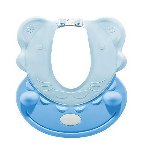 Gorro de champú para bebés, protección los ojos niños, gorro ducha, lavado cabello ayuda el champú, del bebé, oídos, ajustable, impermeable la seguridad baño a partir 6 meses ✅