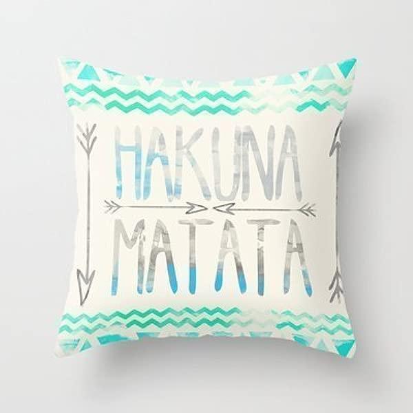 Simple Design Cheap Pillowcase Hakuna Matata Throw Pillow