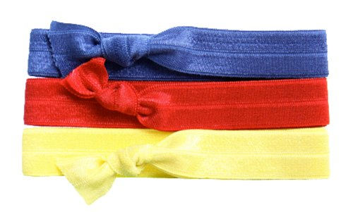 Twistband ALEX set 3 headband rouge, navy et jaune