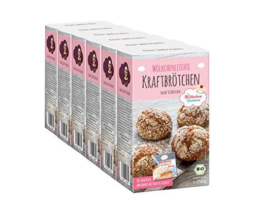 Bio Backmischung Kraftbrötchen für 6 x 10 Brötchen - Rezept aus dem Buch Abnehmen mit Brot und Kuchen
