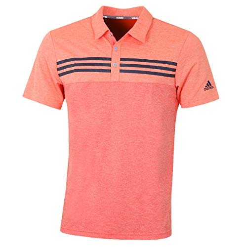 adidas Heather Block Polo, Hombre, Coral, XS