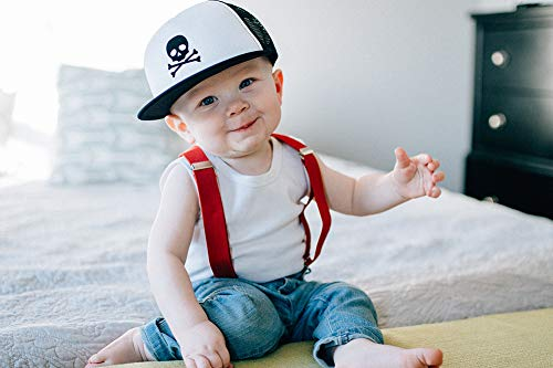 Born to Love Baby Boy Infant Trucker Sun Hat Toddler Baseball Cap White and Blue Lightning Hat