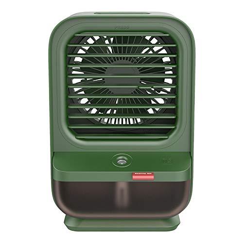 Aire Acondicionado USB, Enfriador De Aire, Mini Acondicionador De Aire Móvil, Climatizadores Evaporativos con Función De Humidificación, 3 Velocidades, para El Hogar Y La Oficina (Color : Green)