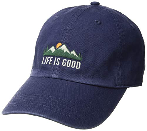 Life is Good Chill Cap Baseball Hat, Mountains Darkest Blue, One Size