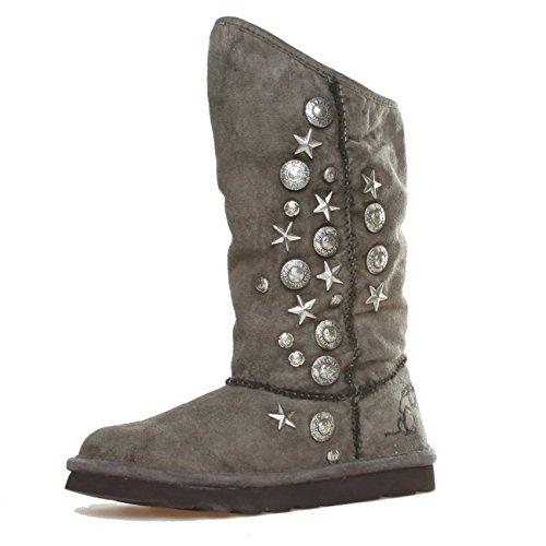Replay RF010018S Damen Winter Yeti Boots Stiefeletten Stiefel Schuhe EU 36-41, UK 3-7 Taupe (EU 36 / UK 3.5)