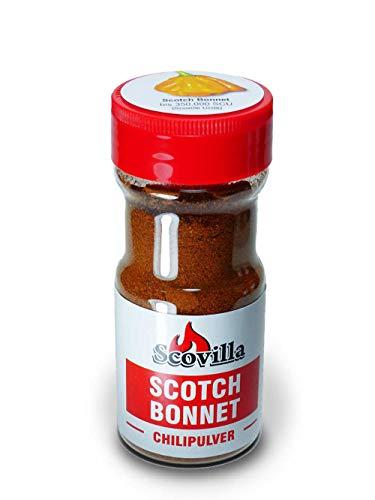 Scovillas Scotch Bonnet, Chilipulver im Shaker, 50g
