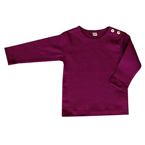 rescence naturel/Baby-Kinder - Camiseta de manga larga - Camiseta - Básico - para bebé niña berenjena 128 cm