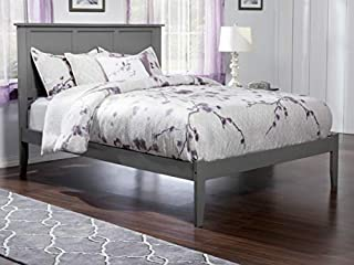Atlantic Furniture Madison Platform Bed with Open Foot Board, King, Walnut (B00MANG81K) | Amazon price tracker / tracking, Amazon price history charts, Amazon price watches, Amazon price drop alerts