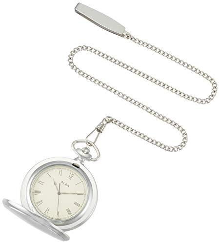 [セイコーウォッチ] 懐中時計 アルバ ポケットウオッチ シルバー 蓋付き ローマ数字 AQGK448
