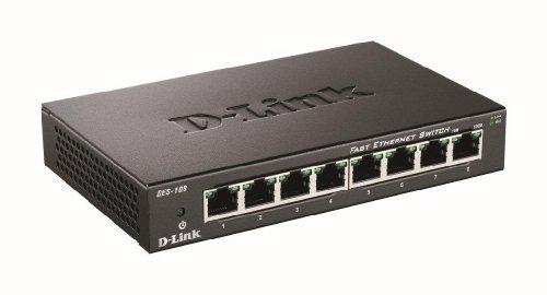D-Link DES-108 8-Port Metal Housing Desktop Switch UK Model