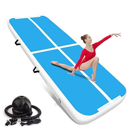FBSPORT airtrack 20cm hoch Verdicken Aufblasbar Gymnastikmatte 6m AirTrack Matte für Gym Training Yogamatte Trainingsmatten Weichbodenmatte Turnmatte Fitnessmatte Aufblasbar Tragbar